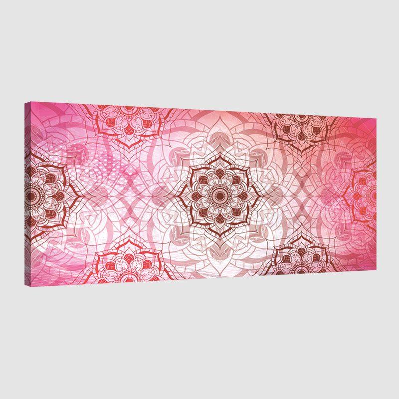 Tableau oriental abstrait floral-rouge