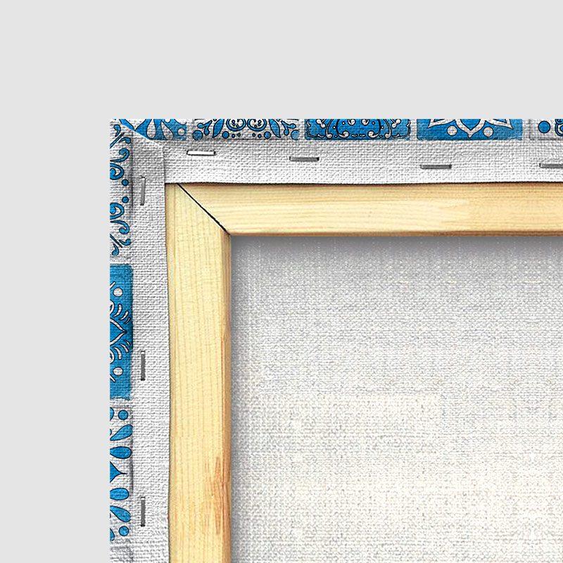 Tableau oriental mosaique camaïeu-détail