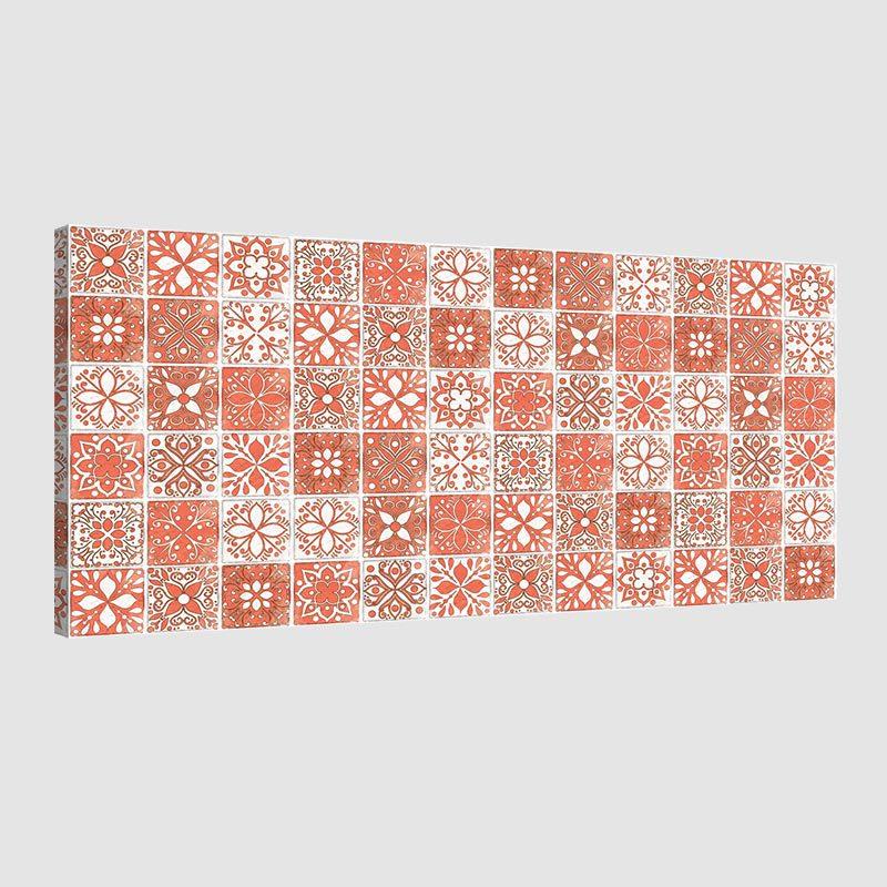 Tableau oriental mosaique camaïeu-orange
