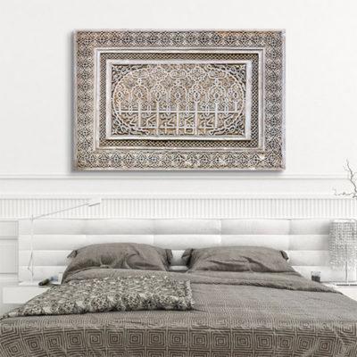 tableau oriental ornement bas-relief
