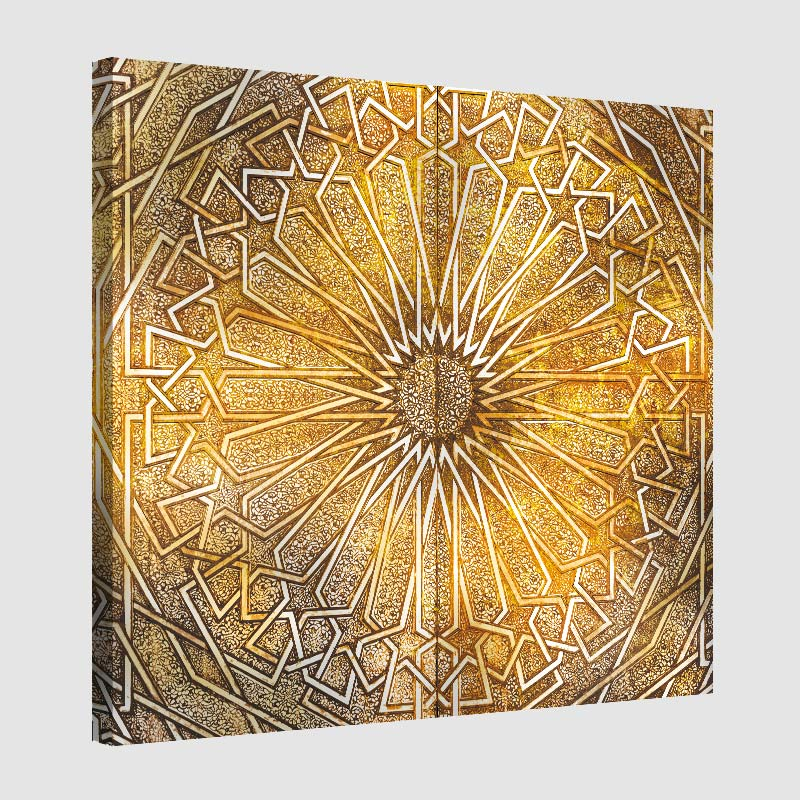 Tableau oriental ornement métal-jaune