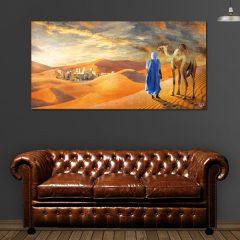 Tableau oriental touareg dans le desert