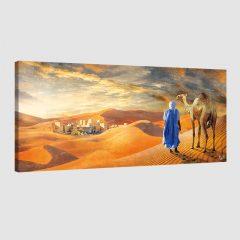 Tableau oriental touareg dans le désert