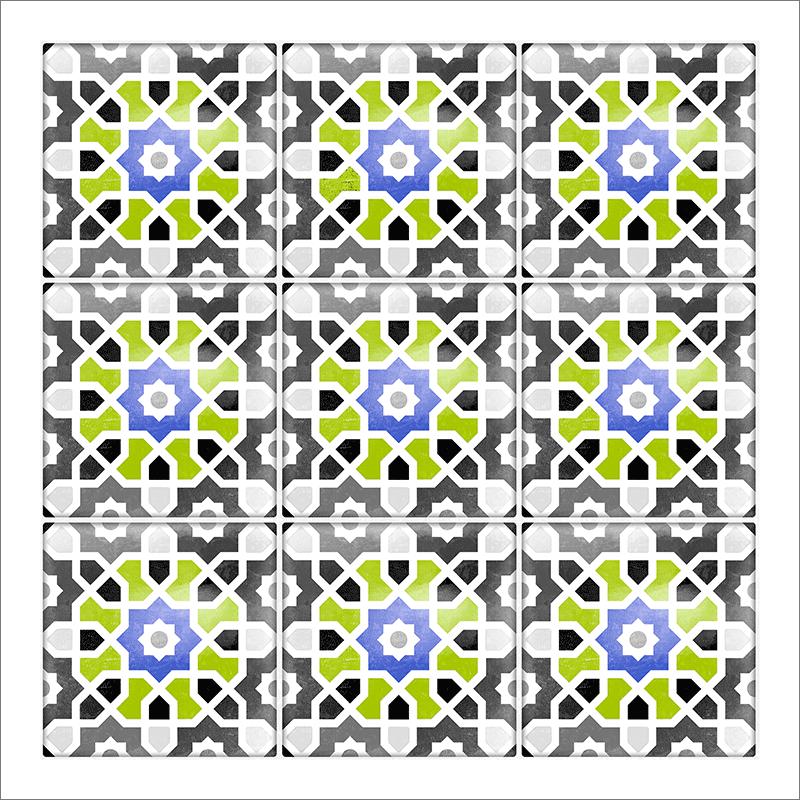Poster oriental – Mosaïque colorée