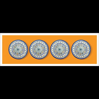 Poster oriental-assiette-orange