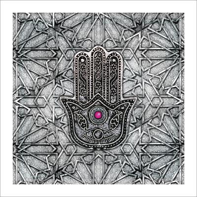 Poster oriental-main de fatma-fuchsia