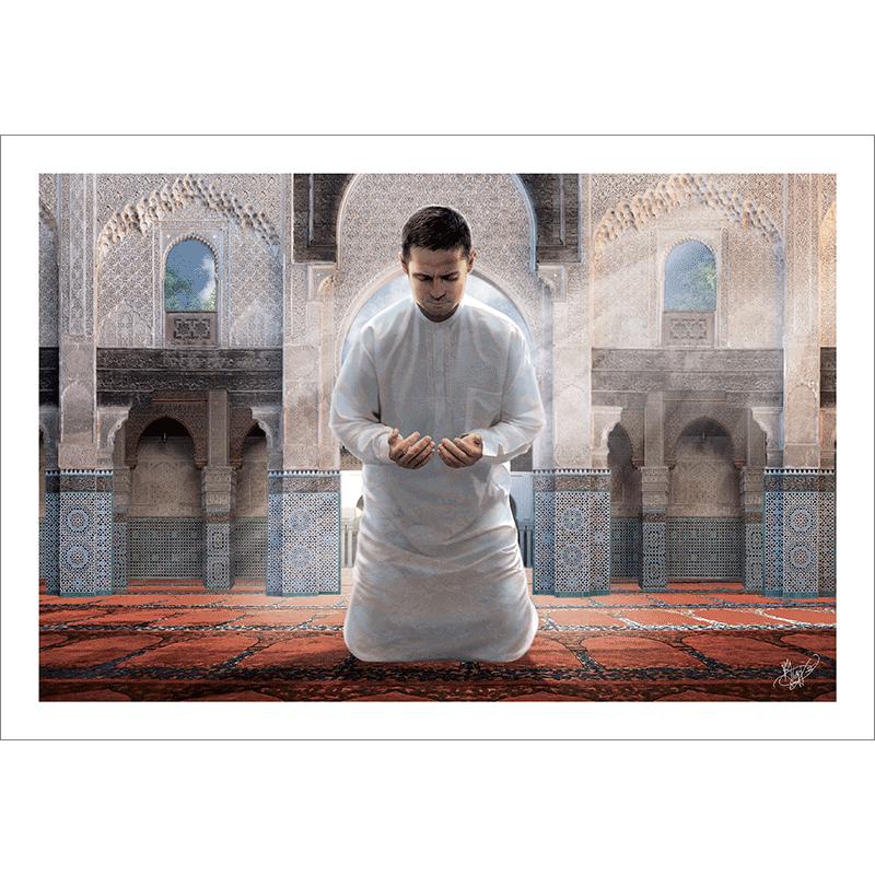 Poster oriental-musulman invocation