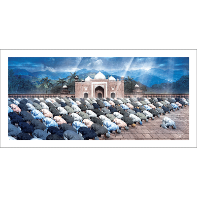 Poster oriental-musulmans prière