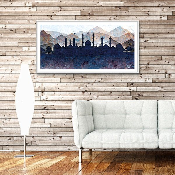 Poster oriental-paysage silhouette