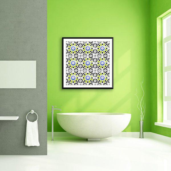 Poster oriental mosaïque colorée