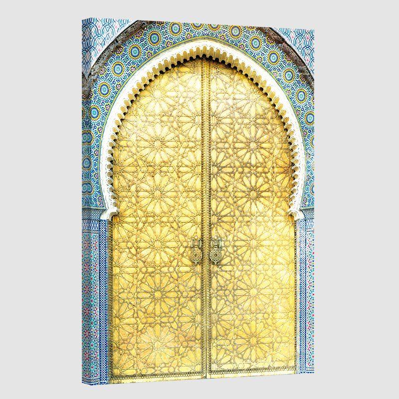 Tableau oriental porte