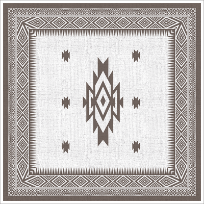 Poster oriental-tapis berbère carré-marron