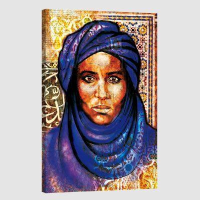Tableau arabe portrait bédouin