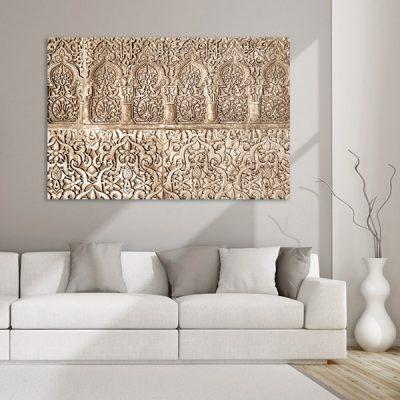 Tableau oriental arabesque florale