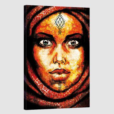 Tableau oriental femme berbère-rouge