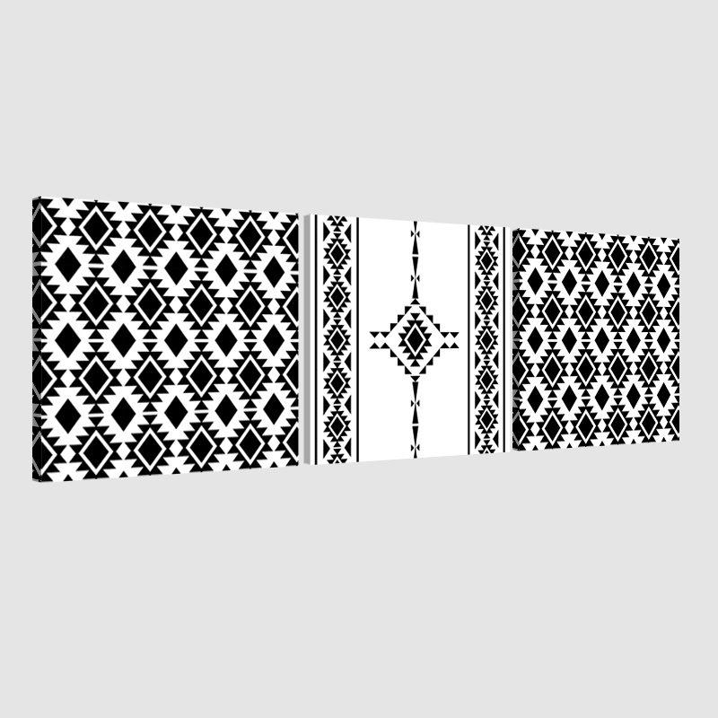 Tableau oriental berbère triptyque-noir