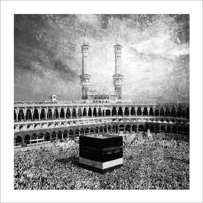 Poster islam-Kaaba-noir et blanc