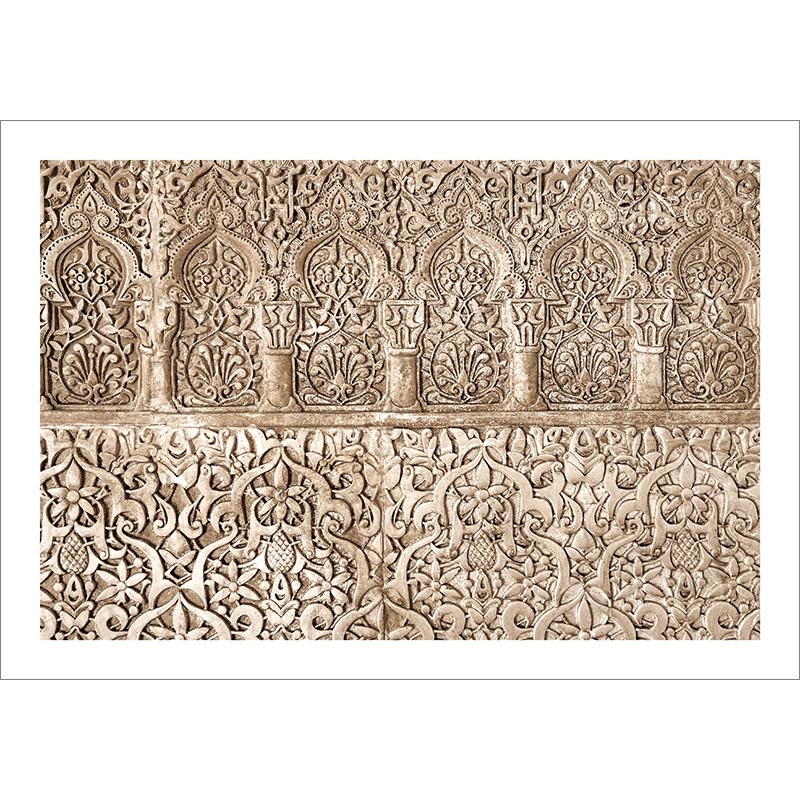 Poster oriental-arabesque florale-marron