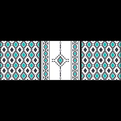 Poster oriental-berbère-turquoise