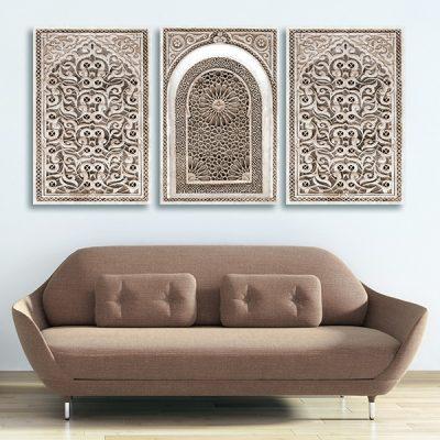 Tableau oriental arabesque triptyque