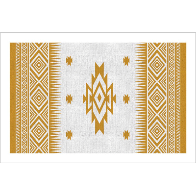 Tableau oriental-motif berbère-jaune