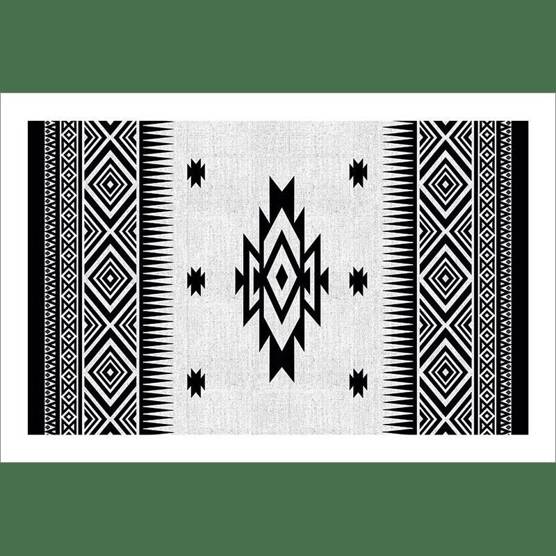 Tableau oriental-motif berbère-noir