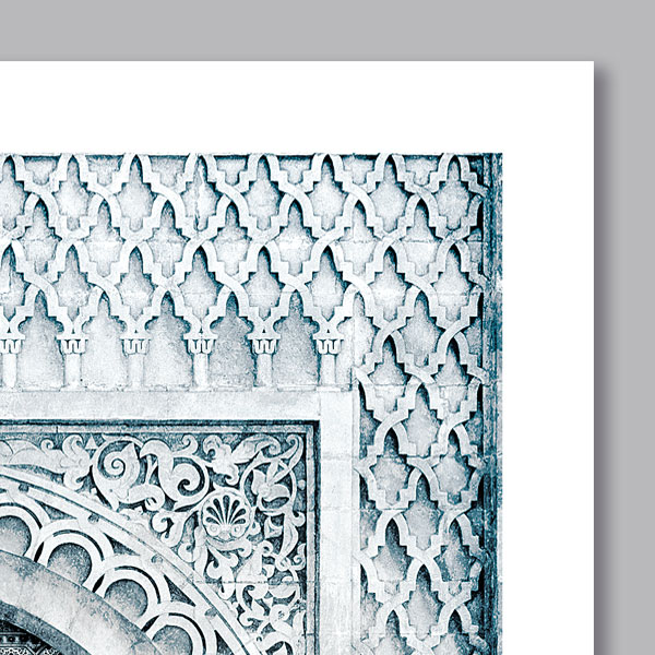Poster arabe porte orientale-detail
