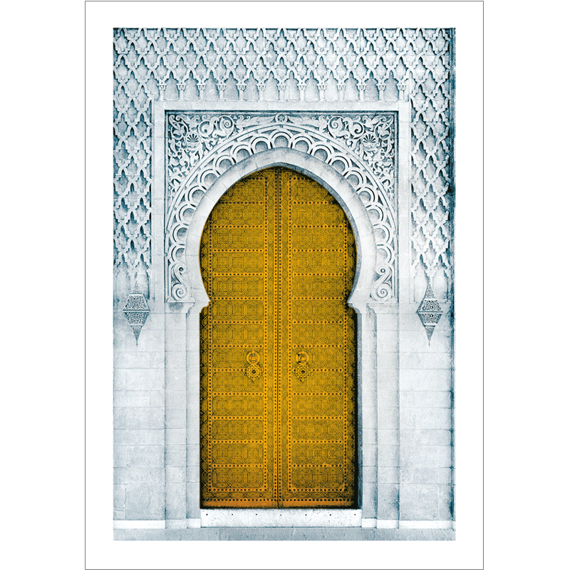 Poster arabe-porte orientale-jaune