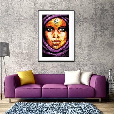 Poster oriental femme berbere