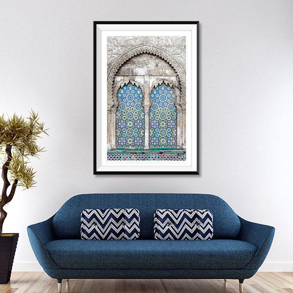 Poster oriental mosaique moderne