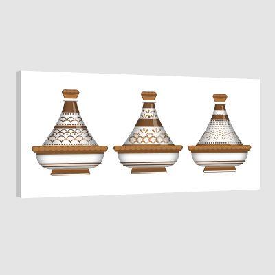 Tableau oriental moderne tajine-marron