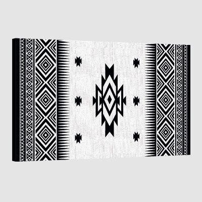 tableau oriental motif berbère-noir