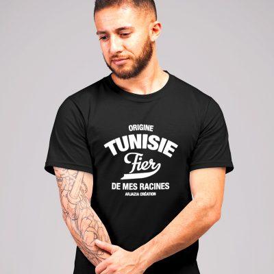 T-shirt tunisie-fier de mes racines