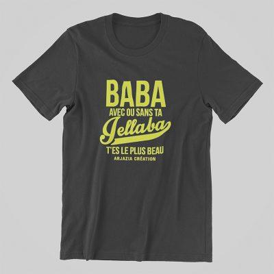 Tshirt baba jellaba-gris