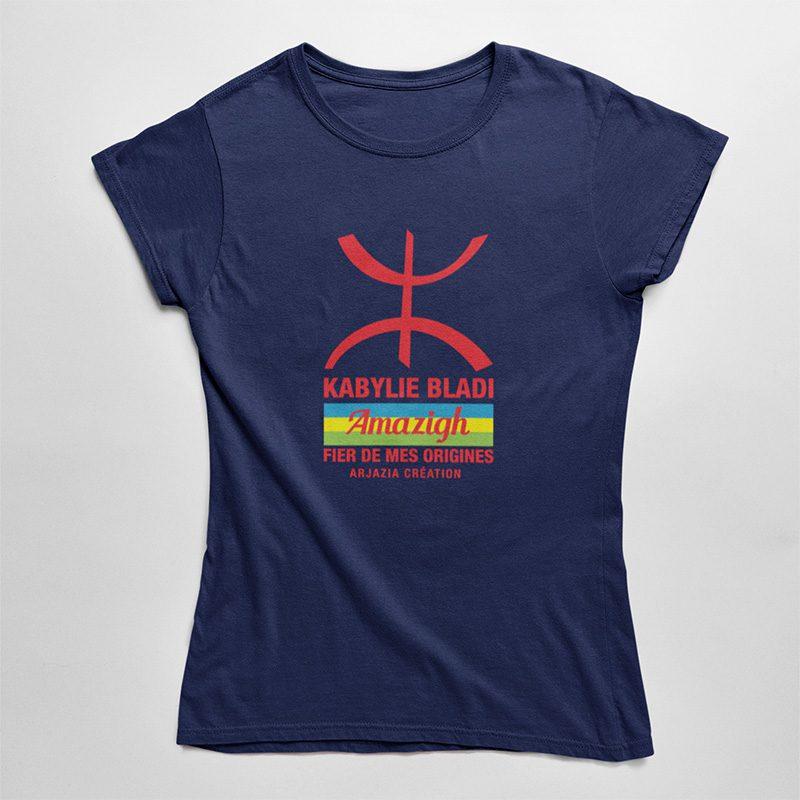 T-shirt kabylie femme-bladi-marine