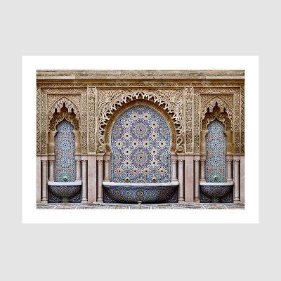 Affiche arabe-fontaine mosaïque