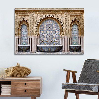 Tableau arabe-fontaine mosaïque