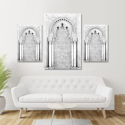 Tableau arabe-porte arabesque triptyque