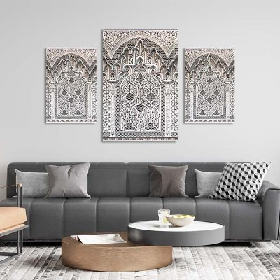 Tableau islam-arabesque triptyque