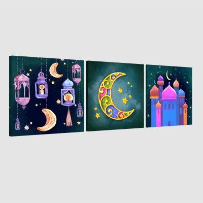 Tableau arabe enfant-aquarel-02