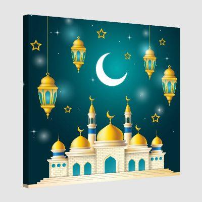 Tableau arabe enfant-mosquée