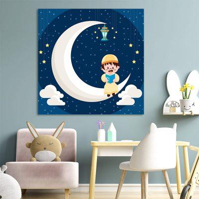 Tableau arabe enfant-nuit